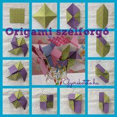 tavasz, origami, szélforgó