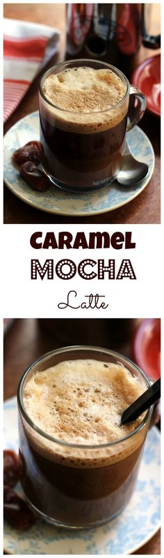 Chocolate and caramel create a sweet harmony in this delicious caramel mocha latte.