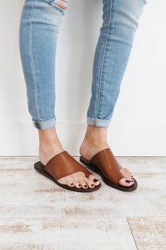 Open Toe Leather Sandals | ROOLEE