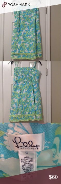Lilly Pulitzer Butterfly Sun Dress Lilly Pulitzer Butterfly Sun Dress - size 12 -adjustable straps - cotton and spandex blend. 10% bundle discount on 3+ items - check out my closet, Jcrew, Lilly, BR, and Talbots, and more! Lilly Pulitzer Dresses