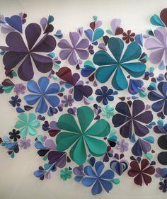 Extra Large 3D Flower Wall Art Purple Blue by xXxWallCandyxXx