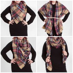 Image result for how to tie big scarf