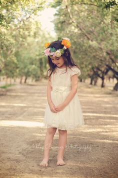Ivory Lace Toddler Girls Dress Ivory Flower by AvaMadisonBoutique
