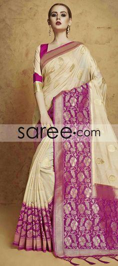 BEIGE BANARASI SILK SAREE WITH ZARI  #Saree #GeorgetteSarees #IndianSaree #Sarees  #SilkSarees #PartywearSarees #RegularwearSarees #officeWearSarees #WeddingSarees #BuyOnline #OnlieSarees #NetSarees #ChiffonSarees #DesignerSarees #SareeFashion