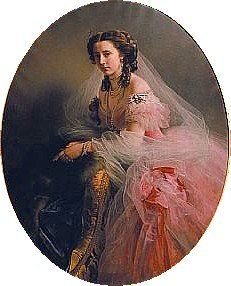 Mother of Prince Frederick Charles of Hesse King of Finland (1868–1940) (husband of Vicky's 8th child) & 2nd wife of Prince Friedrich Wilhelm Georg Adolf Landgrave of Hesse-Cassel (1820-1884). Princess Anna of Prussia (Maria Anna Friederike) (1836-1918) by Franz Xaver Winterhalter, 1858. Her marriage to Fredrich was polite & distant because of his love for dead 1st wife & Anna's 1st love for Emperor Franz Joseph of Austria. She was an intelligent woman who also loved the arts.