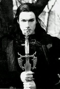 Goth Gothic guy w/ sword