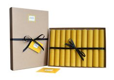 For really serious candle lovers! Our latest gift box of honeycomb patterned candles gives over 100 hours of candlelight. #rolled #beeswax #candles http://goldandblackcandles.co.uk/beeswaxcandles/prod_5064086-Rolled-beeswax-candles.html