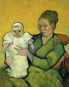 Vincent van Gogh (1853-1890)  Portrait of Madame Augustine Roulin and Baby Marcelle, 1888 or 1889