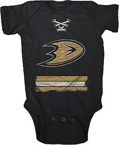 This baby loves the Anaheim Ducks!!!! Quack quack!!!