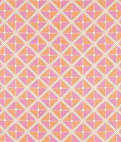 Joel Dewberry Frames Tangerine Fabric - $7.05   onlinefabricstore.net