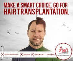 Get a #hairtransplant done to bid adieu to all your hair loss issues forever. It will improve your looks and hence, will boost your confidence level. Dial 18004198111 to book your appointment.
