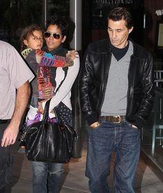 Halle Berry con su hija, Nahla, y su prometido, Olivier Martínez #actrices #actores #famosos #people #celebrities