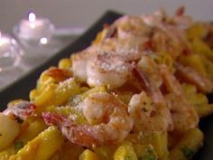 Rigatoni with Squash and Prawns from CookingChannelTV.com
