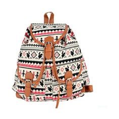 Women Canvas Backpack Shoulder Bag Students Schoolbag Book... ❤ liked on Polyvore