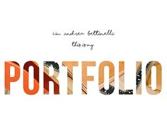 "Check out new work on my @Behance portfolio: ""MyPORTfolio""…"