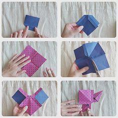 折り紙1枚で立体的なリボンを作ることが出来るんです。ラッピングはもちろん、インテリアやアクセサリーパーツとしても使用可能。簡単可愛い立体リボンの作り方をご