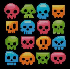 Skull Candies Colorful - PinoyStitch