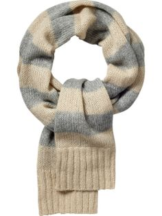 scarf from old sweater arms (link is a dud--just look at photo)