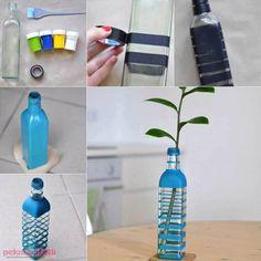 Cam şişeden dekoratif vazo yapımı | El Yapımı | Pek Marifetli!