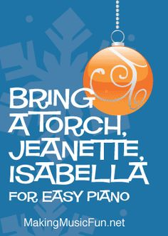 Bring a Torch, Jeanette, Isabella - Free Jazz Piano Sheet Music (Digital Print) Christmas Piano Sheet Music, Easy Piano Sheet Music, Christmas Music, Free Printable Sheet Music, Print Sheet Music, Free Jazz, Digital Print, Piano Teaching, Printed Pages