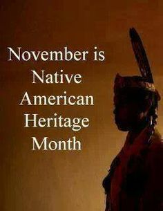 November is Native American Heritage Month Isn't it ironic? November is Native American Heritage Month Isn't it ironic?