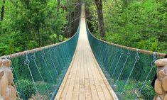 America's longest swinging bridge at Foxfire Mountain Adventures #Sevierville #Tennessee