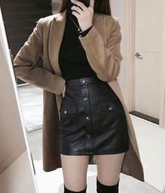 Korean Fashion Trends you can Steal – Designer Fashion Tips Grunge Outfits, Girl Outfits, Casual Outfits, Fashion Outfits, Womens Fashion, Fashion Ideas, Fashion Clothes, Fashion Hacks, Style Clothes