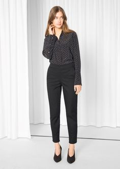 & Other Stories image 2 of High Waisted Trousers  in Black