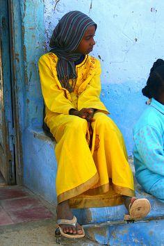 Nubian girl --- Aswan, Egypt