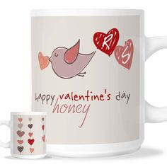 Valentines Mugs, Happy Valentines Day, Photo Mugs, Illustrations, Tableware, Dinnerware, Illustration, Tablewares, Dishes