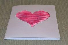 Szíves képeslap - Bálint nap - Valentin nap - Valentin day - papír - saját készítésű - DIY - sablon