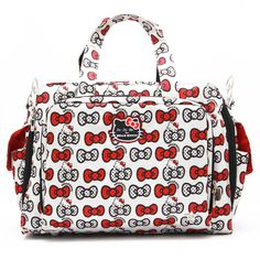 Ju Be O Kitty Prepared K A Bow Diaper Bag Bevy Of Bows Add Plenty Charm To The