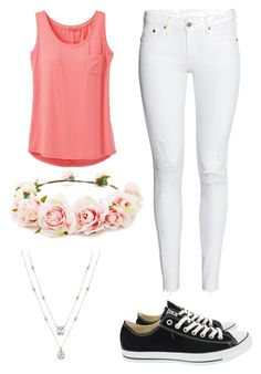 """""""spring vibes"""" by janemit on Polyvore featuring prAna, Converse and Forever 21"""