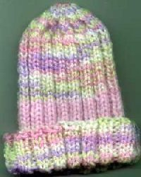 This is my GO TO pattern when knitting baby hats for the hospital because it's so stretchy and can fit lots of different sized babies Crochet Preemie Hats, Crochet Baby Hat Patterns, Baby Hat Knitting Pattern, Hat Patterns To Sew, Baby Hats Knitting, Knitted Hats, Knitting Patterns, Diaper Cover Pattern, Knitting For Charity