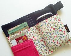 iPhone wallet case cell phone case iPhone 4 wallet by TLCPouches, $25.00