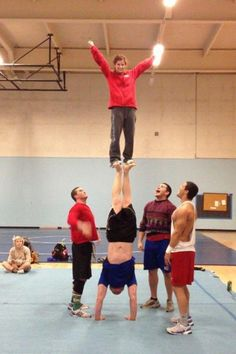 Love that one guy's face :o   how'd they even get that person up there?????