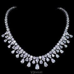 Marquise Cut Cubic Zirconia Wedding Necklace Diamond Choker Bridal Statement Collar An0027 Pinterest