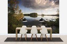 Swedish Summer Landscape - Tapetit / tapetti - Photowall
