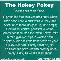 The Hokey Pokey, Shakespearean Style
