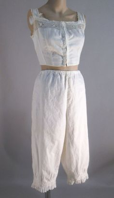 Edwardian Nightgowns | antique vintage bra bloomers edwardian lingerie warner's pantaloons ...