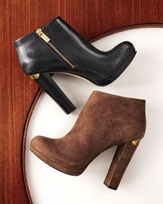 fashion, michael michael, michael kors booties, kor booti, style, heel, brown, closet, shoe