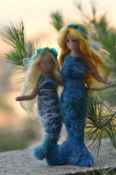 Needle Felted Mermaids