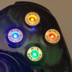 XBOX bullet controls http://www.etsy.com/listing/100093392/xbox-360-controller-9mm-led-bullet