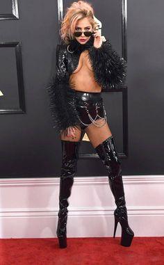 Lady Gaga from Grammys 2017 Red Carpet Arrivals  In Alex Ulichny