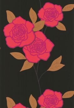 Cole & Son - New Contemporary Two - Paper Roses 69-6120 HR