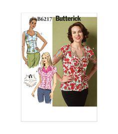 Butterick Pattern B6217-D50-Misses' Blouse-12-14-16-18-20