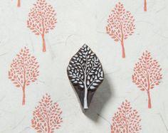 Árbol sello del bloque de madera por BLOCKWALLAH en Etsy