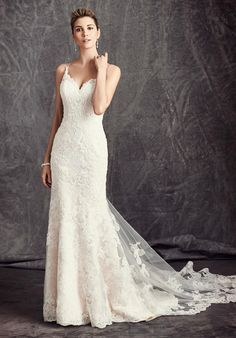 Lace mermaid gown with sweetheart neckline | Kenneth Winston: Ella Rosa Collection | BE295 | http://www.theknot.com/fashion/be295-kenneth-winston-ella-rosa-collection-wedding-dress?utm_source=pinterest.com&utm_medium=social&utm_content=sep2016&utm_campaign=national&utm_simplereach=?sr_share=pinterest