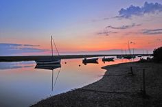 Boats at sunset in Blakeney Harbour Contributed by: Rob Haynes Norfolk House, Seaside, Countryside, Sailing, Coast, England, River, Explore, Adventure