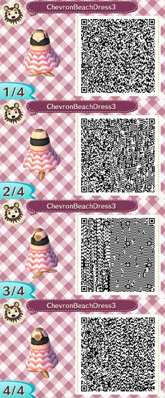 Cheveron Beach Dress Pink QR Code by ChibiBeeBee.deviantart.com on @DeviantArt